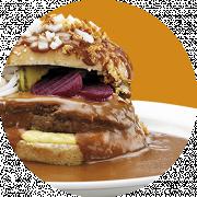 Bøfsandwich med brun sauce