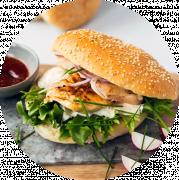Menu - Kylling Bacon Cheeseburger 200g