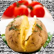 2 Stk. Bagte Kartofler med Hvidløgssmør