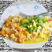 Ris med Kylling og karry sauce
