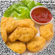 5 stk. Nuggets m. pommesfrites