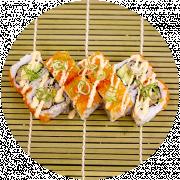 8 stk. Ebi tempura Orange Roll
