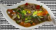 Oksekød i Chop Suey Sovs